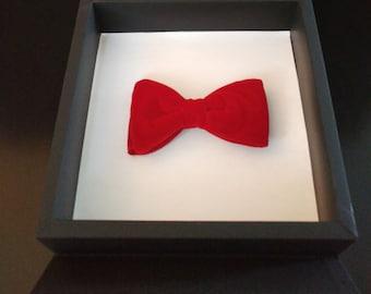 Handmade Red Velvet Bow tie
