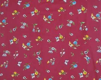 "Dressmaking Fabric Cotton Fabric For Sewing Designer Pink Rayon Fabric Floral Print 42"" Wide Sewing Dress Craft Material By The Yard ZBC4634"