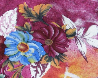 """Indian Dress Fabric, Floral Print, Purple fabric, Home Decor, Sewing Craft, Cotton Fabric 42"""" Inch Designer Fabric By The Yard ZBC2122"""