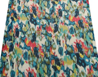 "Chiffon Dress Fabric, Abstract Print, Multicolor Fabric, Home Accessories, 42"" Inch Chiffon Fabric By The Yard ZBCH46"