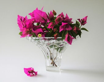 Cut glass posy vase - bell shaped - bouquet holder