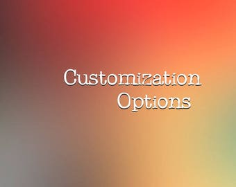 Custom fee for order customization or upgrade