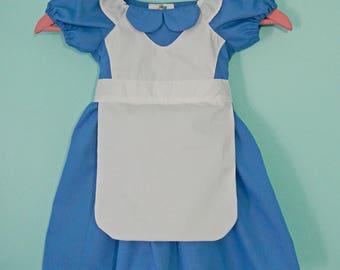 Alice in Wonderland dress - Alice dress - Alice in Wonderland costume - cotton play dress
