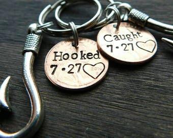 Personalized Lucky Penny Keychain, Anniversary, Wedding, Fishing Gift, Fisherman, For Him, Boyfriend, Girlfriend, Wife, Husband, Valentine's