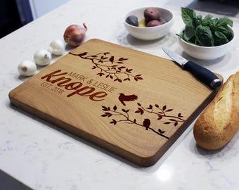 Personalized Cutting Board, Custom Cutting Board, Engraved Cutting Board, Cutting Board, Custom Wedding Gift--CB-WO-KNOPES