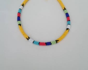 Beaded Traditional Zulu Necklace - South Africa