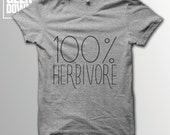 100 Herbivore Vegan tshirt tee  vegan tshirts  vegan clothing  vegan shirt  vegetarian  animal rights