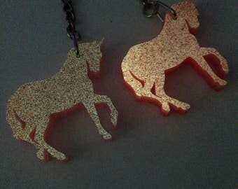 Glow in the dark Unicorn necklace, unicorn, necklace, resin necklace,
