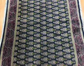 "2'1"" x 2'6"" Persian Tabriz Oriental Rug - 1970s - Hand Made - 100% Wool"
