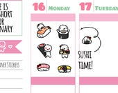 Munchkins - Japanese Food Sushi and Sashimi Time! Planner Stickers (M259)