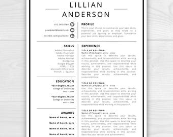 resume design etsy