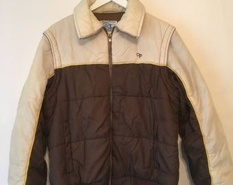 Vintage 80s OP Weatherwear Jacket with Removable Sleeves Men's Size Large