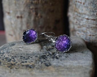 "Earrings ""Purple Unicorn"""
