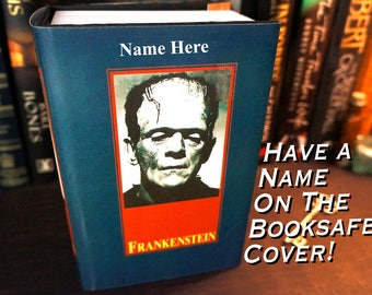 Frankenstein Book Lover Gift Hidden Compartment Hollow Book Safe Husband Gift Mens Personalized Mens Gift Boyfriend Gift Brother Gift