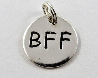 B F F Best Friends Forever Sterling Silver Charm or Pendant.