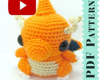 Dragonite Amigurumi Crochet Tutorial Companion Pattern