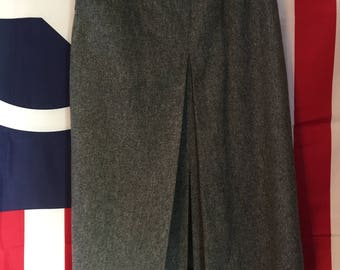 Gray Union Made in the USA 1970's Wool Skirt