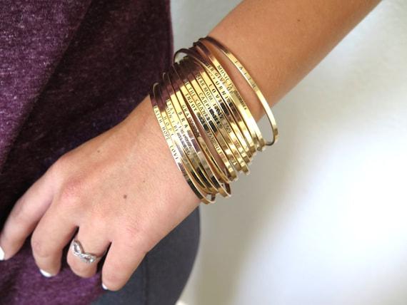 HOPE Mantra Band, Christian Hope Bracelet, Inspirational Bracelet, Gold Bracelet, Cuff Bracelet, Christian Gifts