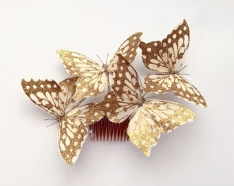 Art Deco Butterfly Hair Comb