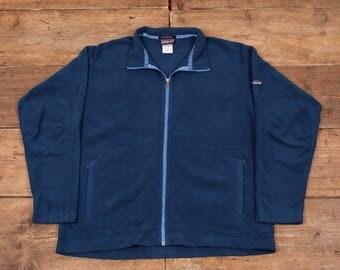 "Mens Vintage Patagonia Synchilla Full Zip Blue Fleece Jacket L 44"" R5333"