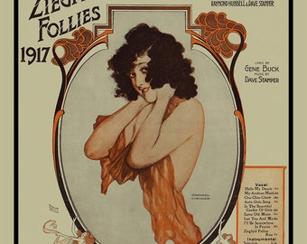 Musical Score Art Print - Ziegfeld Follies Print - Chu-Chin-Chow Art Print -