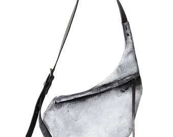 leather hip bag 009M - white