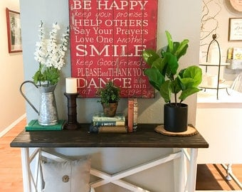 Entryway Table, Entry Table, Farmhouse Entry Table, Mudroom Table, Rustic Entryway Table, Entry Decor, Wood Entry Table