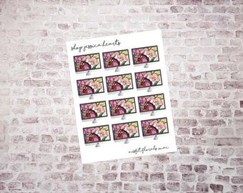 Misfit Florals iMacs Planner Stickers