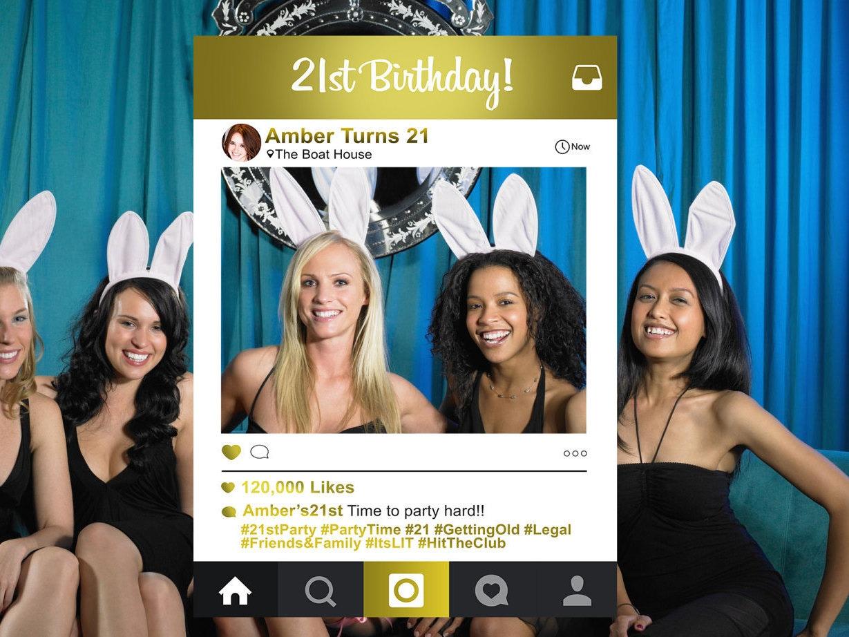 21st Birthday Instagram Photo Booth Frame 21st Birthday