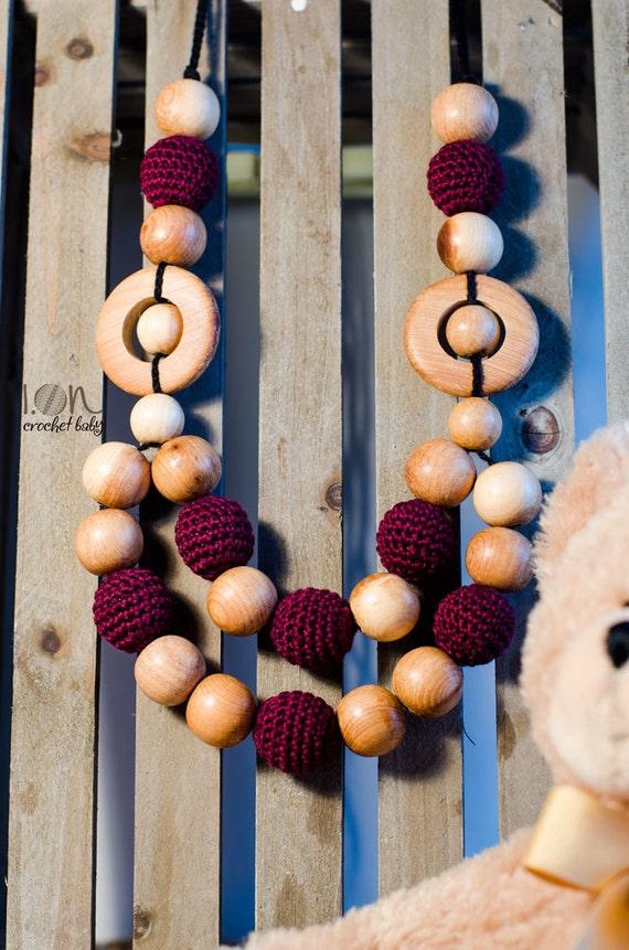 Abbraccio - Nursing necklace - Teething Necklace - Crochet Necklace
