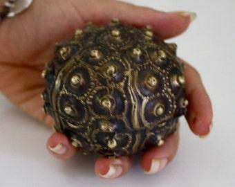 Brass Sea Urchin, Jewellery Holder / Ash Tray / Stash Hider