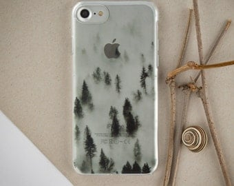 Forest in Fog iPhone 7 Plus Case Clear iPhone 7 Plus Case iPhone 6 iPhone 6 plus Case 7 iPhone Clear iPhone Case iPhone 5 Case for S8 PC_024