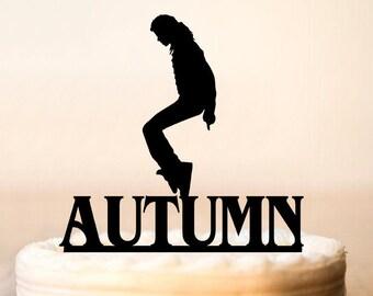 Michael Jackson Cake Topper, Michael Jackson Party,Michael Jackson Birthday,Michael Jackson Decoration,Music Theme (0160)