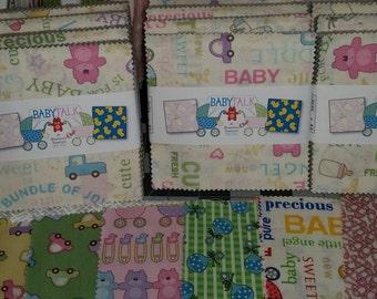Baby Talk - Charm Pack - Benartex - Super Cute baby Fabric