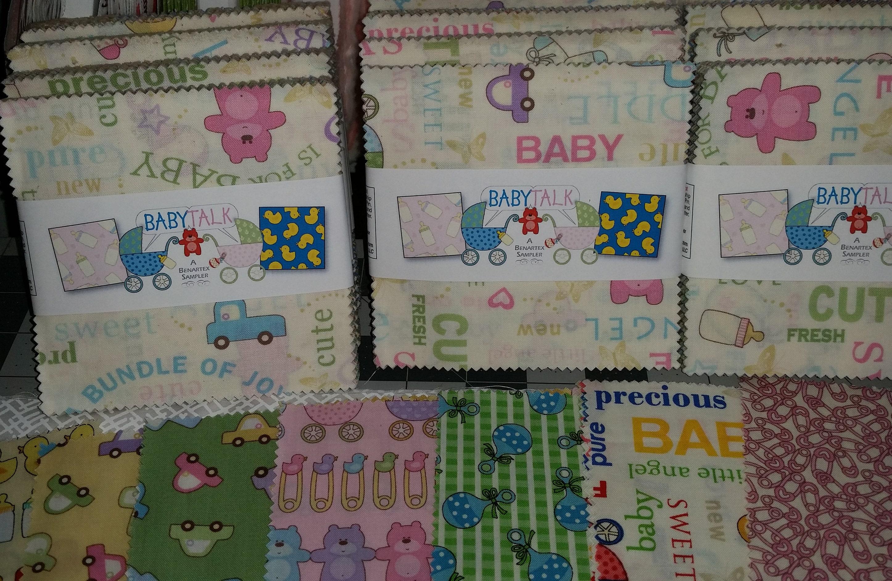 Baby talk charm pack benartex super cute baby fabric for Cute baby fabric
