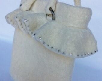SALE - PEPLUM Bag, Bridal Bag, Wedding Bag, Evening Bag, Bridal Clutch, Wedding Clutch, Felted Bag, Knitted Bag, Wool Bag