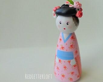 Geisha Peg Doll