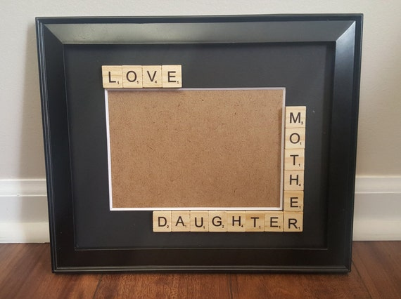 mother daughter picture frame mothers day gift mother daughter frame scrabble picture frame mom picture frame from elegantblissdesigns on etsy studio - Mother Daughter Picture Frame
