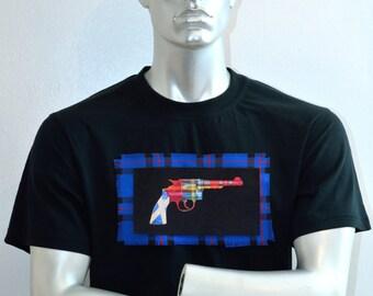 Scottish flag - cult clothing - alternative apparel - punk - tartan - t shirt design - Made in Scotland