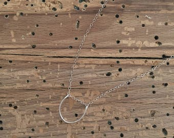 Mini Loop Necklace - Sterling Silver