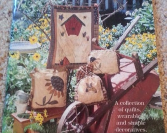 Show Me Your Garden by Sarah Sporrer for Indygo Junction Inc Quilt Pattern Book - Stitchery Pillows - Applique