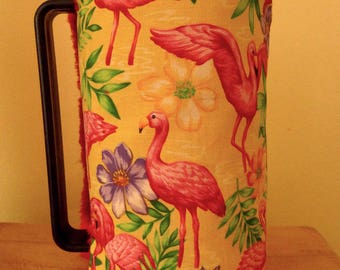 Flamingo cafetiere cosy