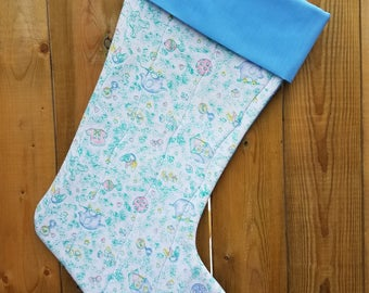 Baby Infant Quilted Christmas Stocking