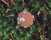 Little Sleepy Hedgehog / hard enamel pin / lapel pin inspired by the woods and designed by Nina Štajner.