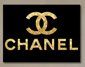 "Chanel Canvas Print Gold 30""x40"""