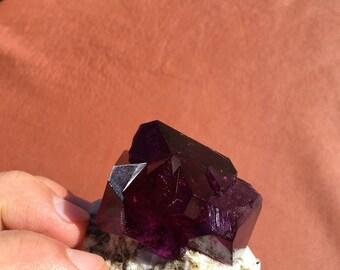Purple Alum/ Sacred Geometry/ Crystal Grid/ Protection Stone/ Egypt/ Healing Crystals/ Altar/ Shrine/ Meditation/ Reiki Healing/ Chakra/ Chi