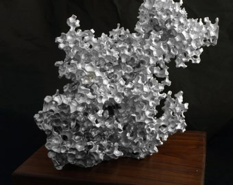 Made To Order BIG Aluminum&Wood Sculpture Modern Art Conversation Piece Contemporary Decor Classy Present Gift