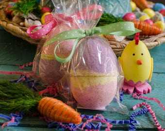 Easter Egg Bath Bombs- Holiday Bath Bombs, Easter Basket Gifts, Bath Fizzies - Bath Fizz - Gifts for Kids - Easter Basket Goodies