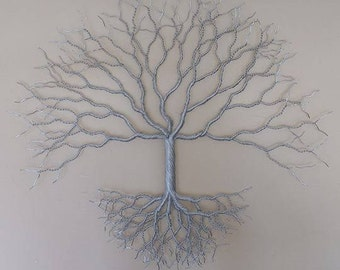 Aluminium Twisted Wire Wall Art Celtic Tree of Life - Nature Sculpture