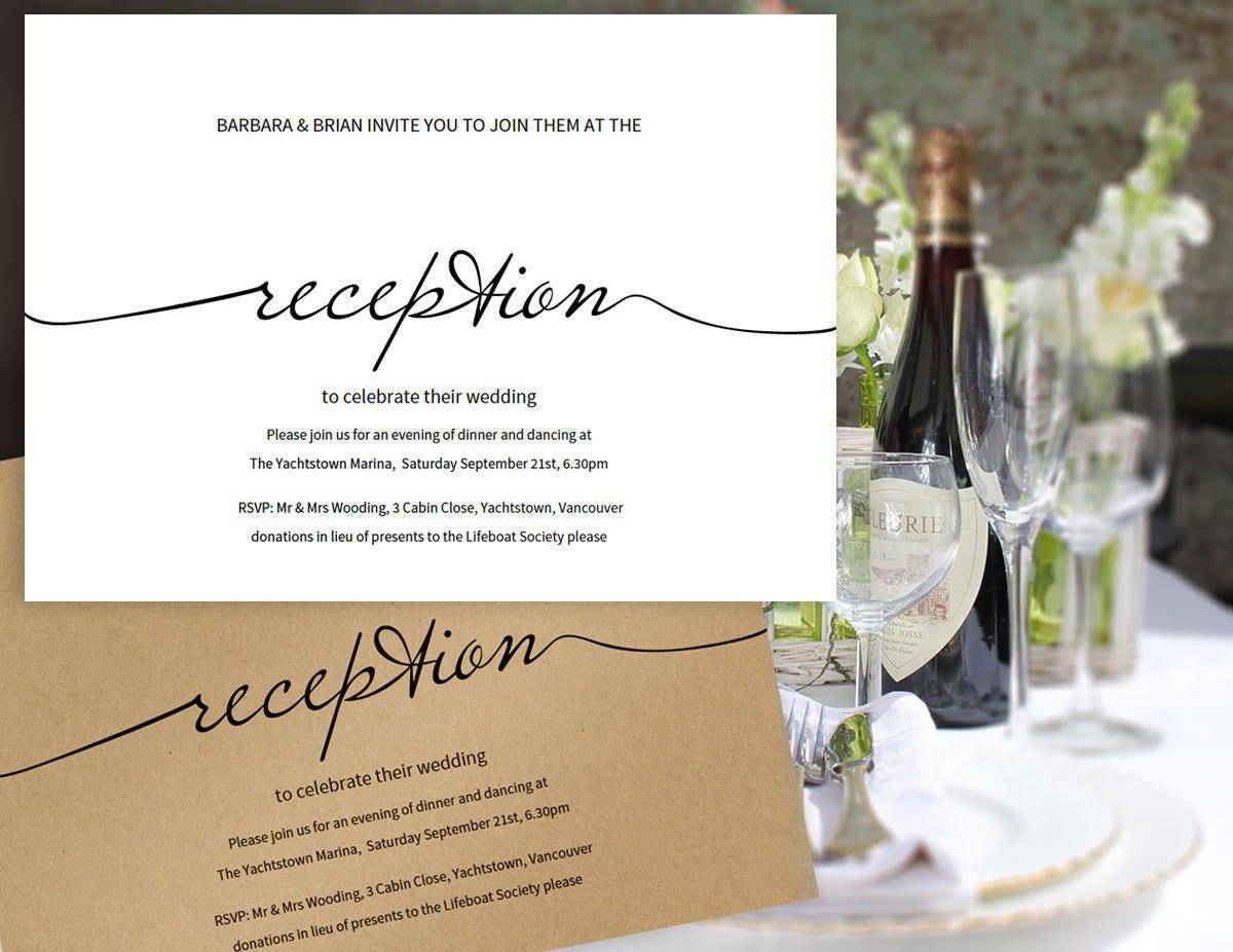 reception only reception only wedding invitations Printable Reception Only Invitation Wedding Printable Wedding Invitation Editable Simple Wedding Reception Invitation Reception Card